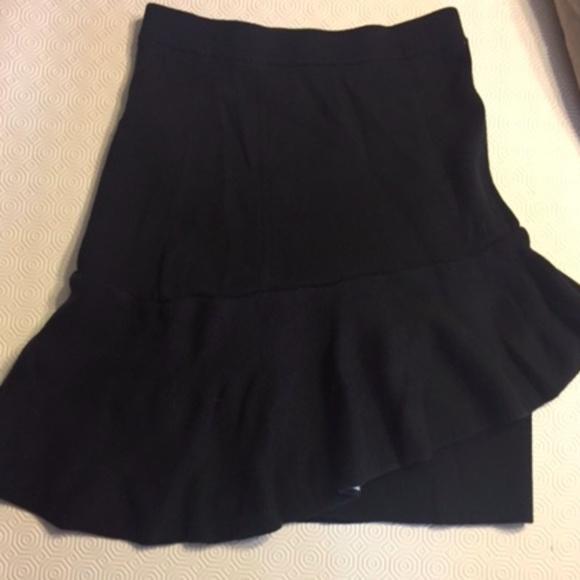 2e77e36657 Sandro Paris Skirts | Black Ruffle Skirt | Poshmark